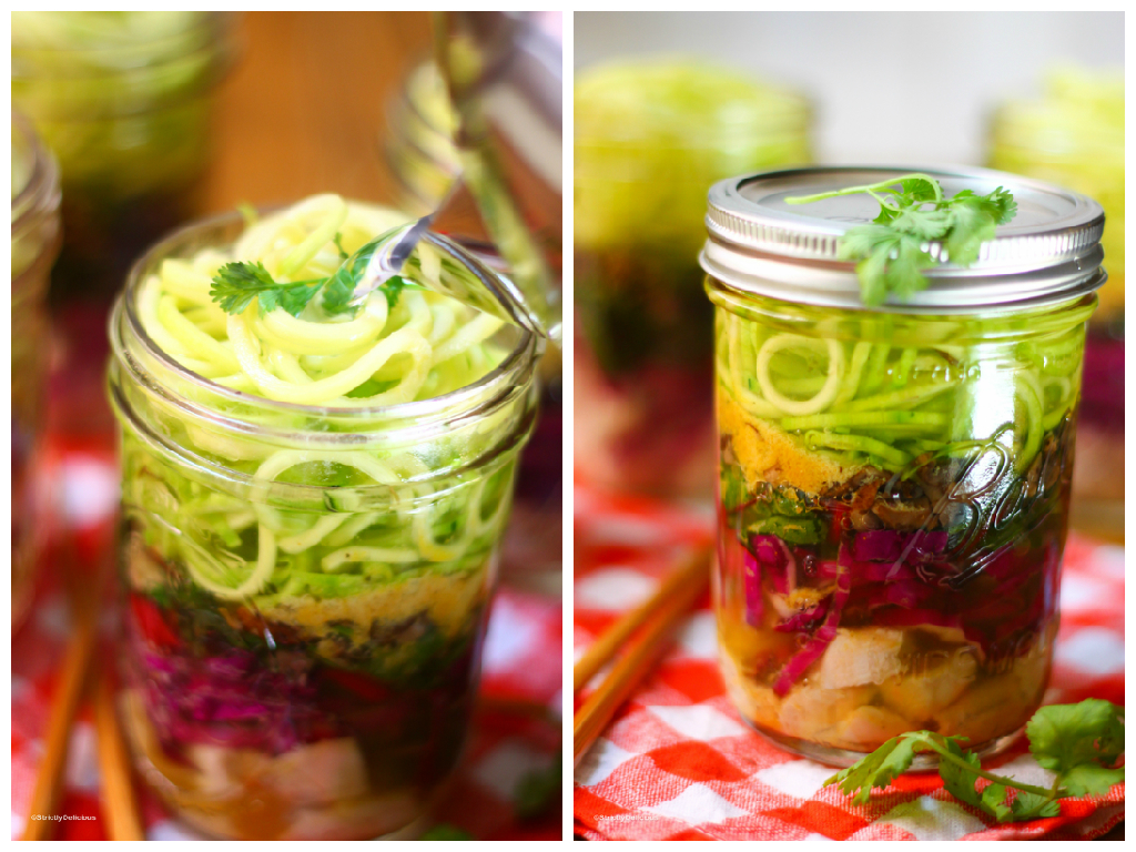 Mason Jar Instant Ramen Zoodles | A healthy, gluten-free, delicious to ...